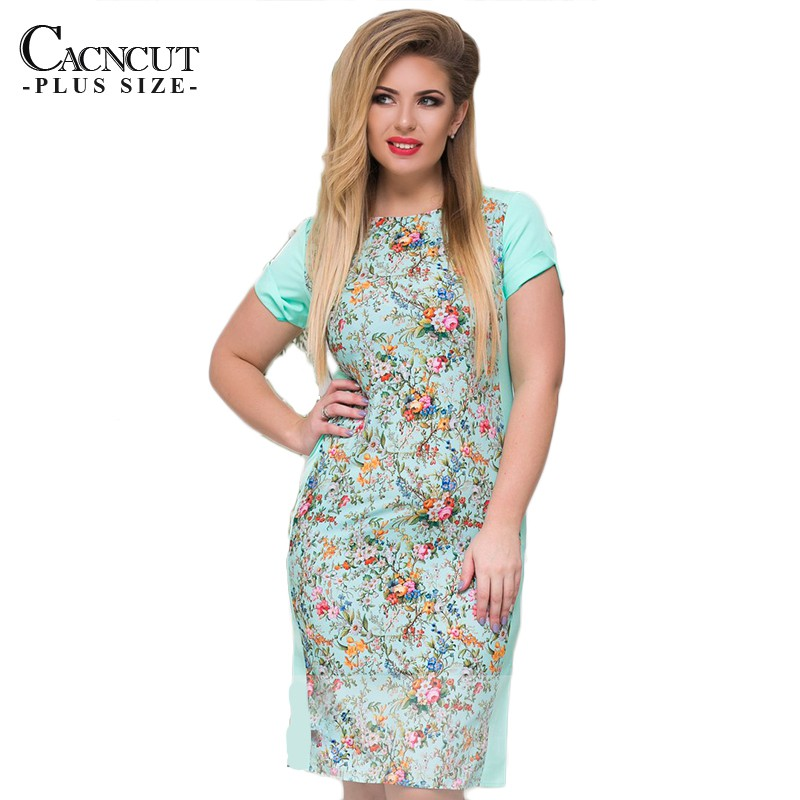 83a43f58d01bc 2019 Plus Size Summer Women Dress Casual Vintage Floral Printed Big Size  Dresses