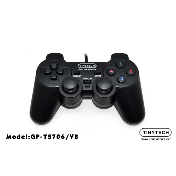 Tinytech GP-TS706 Double Shock PC USB Connection PC Controller ***Plug & Play Gamepad Joystick For PC Game