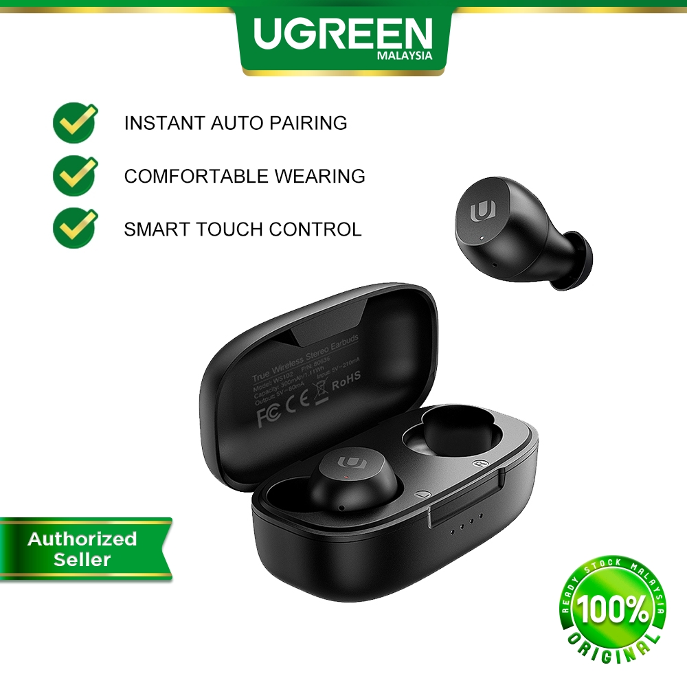 UGREEN TWS Bluetooth 5.0 Wireless Stereo Earphone Headphone Earbud Earbuds In Ear Smartphone Android Iphone Samsung Oppo