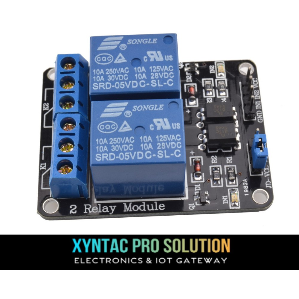5V 2 Channel Relay Opto Isolator Module Isolation Protection