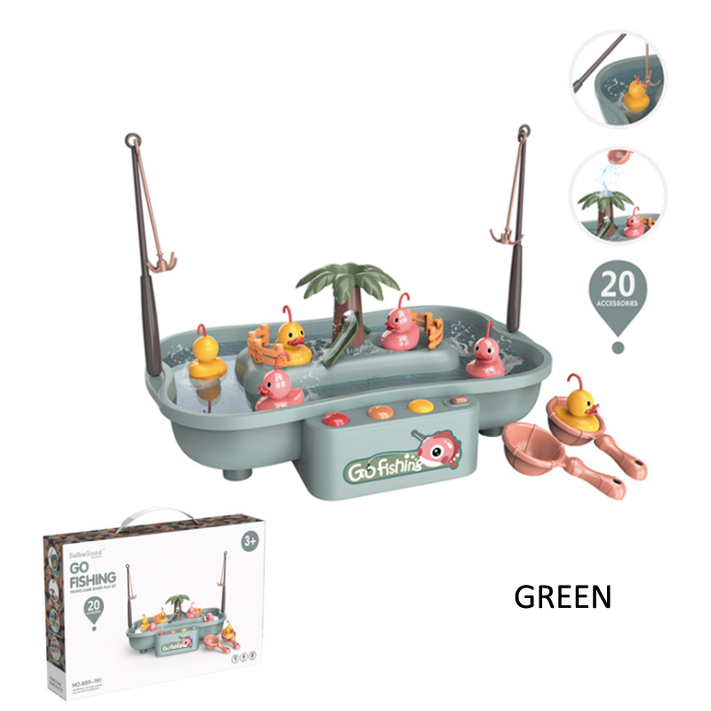 GDeal Baby Valley Children Electric Water Cycle Music Light Rotating Fishing Rod Baby Fishing Toy