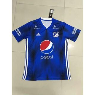 bfbaeb70a7a 19 20 Millonarios home blue soccer jersey 2019 2020 football shirt jersi