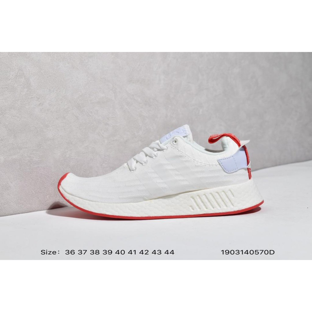 ADIDAS NMD R2 PK Popcorn cushioning running shoes couple models