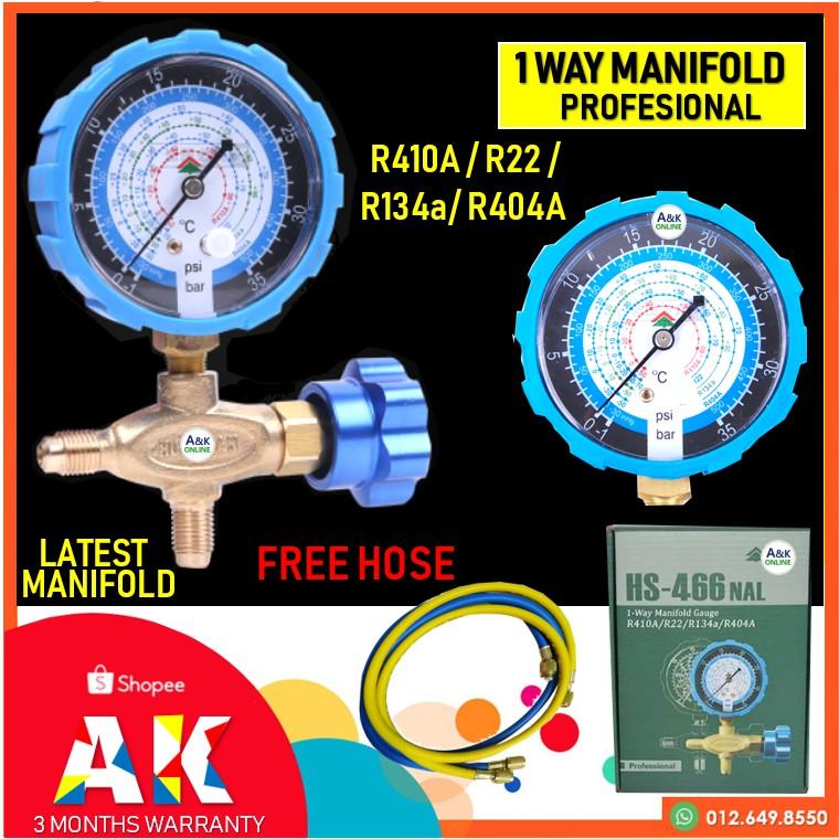 Manifold Gauge Low Side( New Model) R410A / R22 / R134a/ R404a
