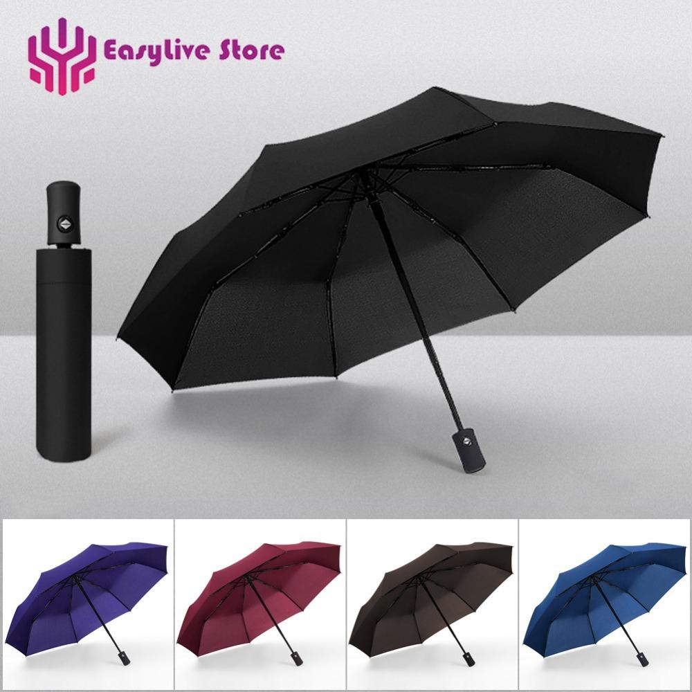 2308dd7e8d 👍EasyLive👍Waterproof Automatic Umbrella Rain 3 Folding Light and Durable  Super Strong Umbrellas Kids Rainy Sunny