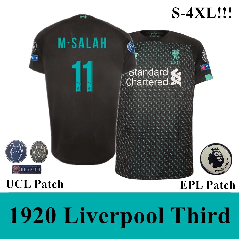 buy popular 180a1 8d04e 19-20 Top Quality Liverpool third Soccer Jersey Football Jersey(M.Salah 11)