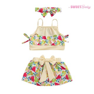4fb267b03716 3pcs/set Bikini Swimwear Headbands Baby Girls Fruit Print Halter Bathing  Suit | Shopee Malaysia