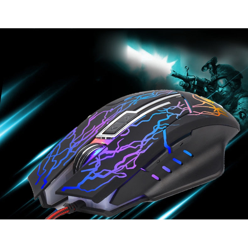 Fashion Black 6d Buttons Led Usb Wired Gaming Mouse For Pc Laptop 2400dpi Mice Luye Shopee Malaysia
