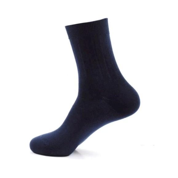 Men's Business Breathable Thermal Cotton Classic Blended Casual Sport Socks Plain Black