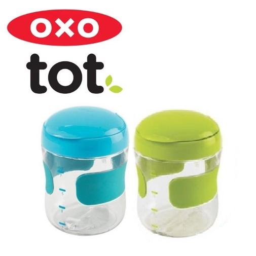 Overig Kopjes, schotels, keukengerei OXO Tot Flip Top Snack Cup Green Kids Snack Box Compact No Slip Grip
