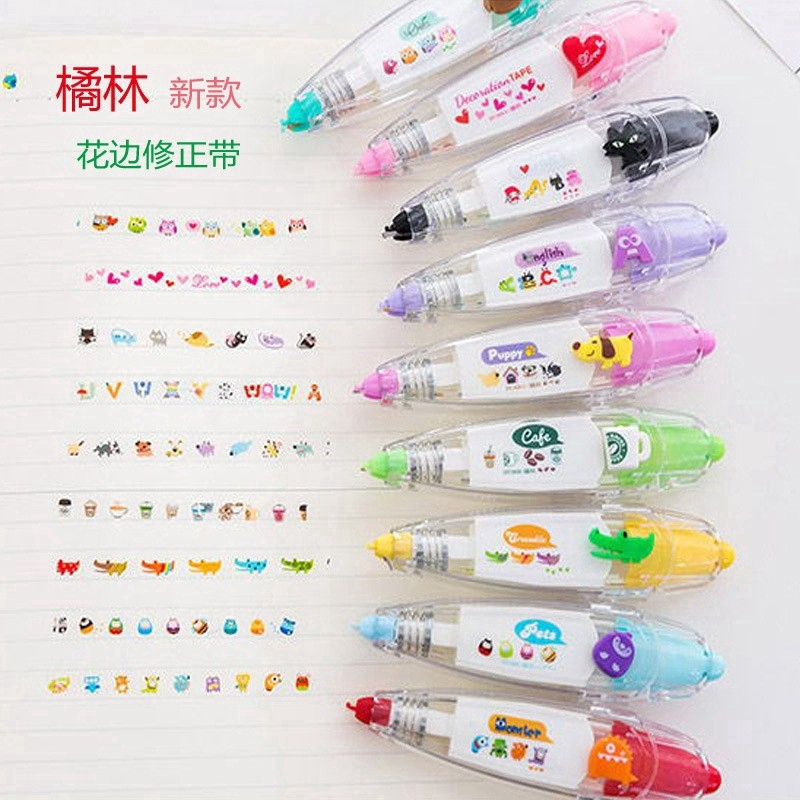 Decorative Type Correction Tape Cute Funny Stationery Push Scrapbooking Dairy