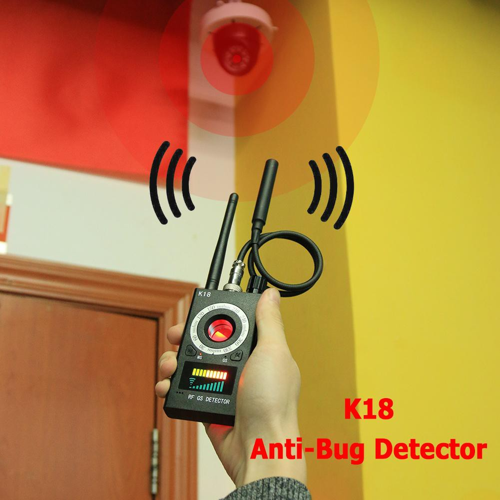 K18 Anti-Bug Detector GSM Audio Bug Finder GPS Wireless Signal RF Tracker
