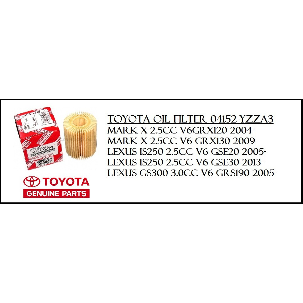 Toyota SN/CF 5W-40 Genuine Motor Oil Full Synthetic- 4L (With Oil Filter)