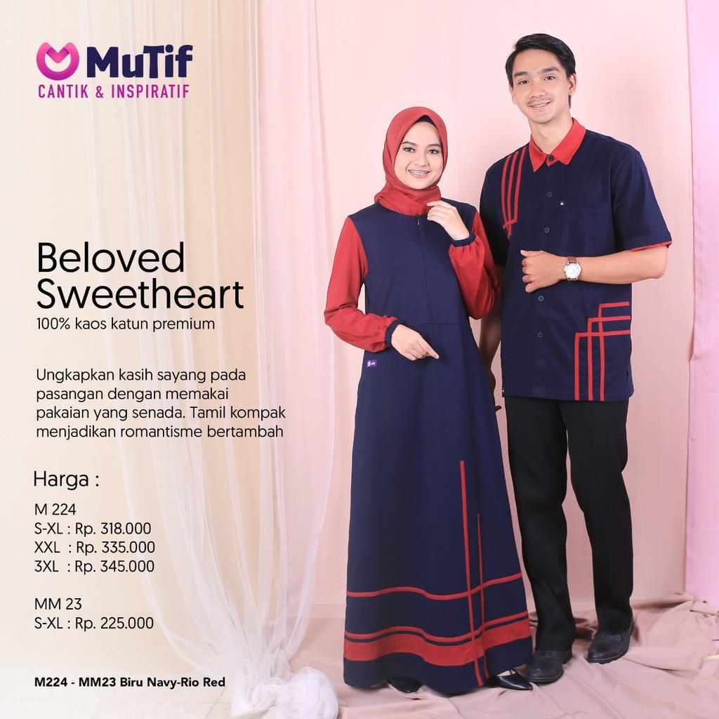 Latest Mutif Couple Clothes 2020 Mutif 224 Mm 23 Blue Navy Shopee Malaysia