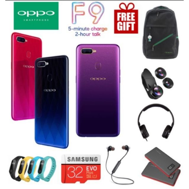 With Giftbox Bundle Oppo F9 6gb 64gb Ready Stock