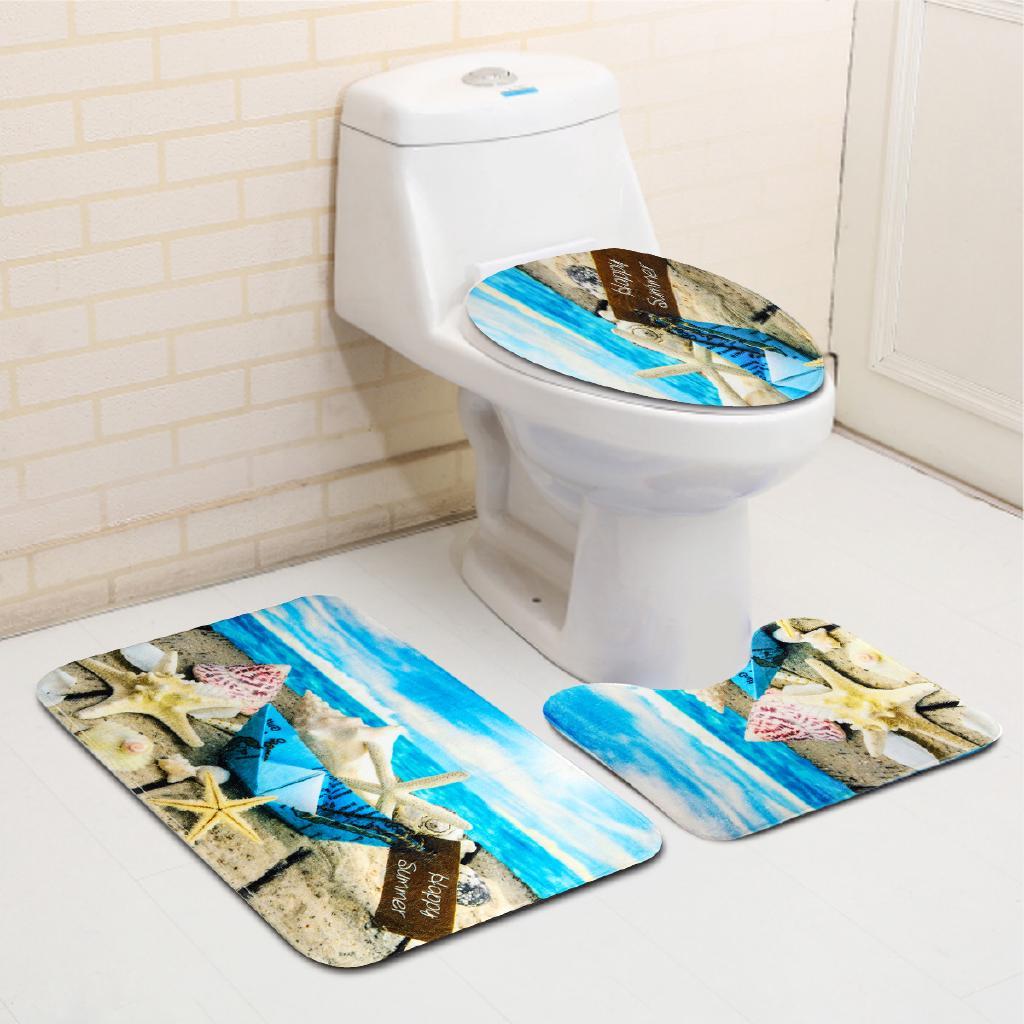 Sale】Water Ocean Sea Beach Scenery Paper Boat Bathroom