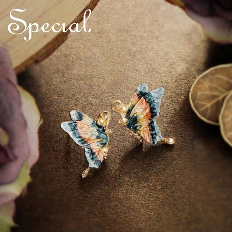 Vintage S925 Silver Pin Butterfly Earring Jewelry 复古S925银针蝴蝶耳环饰品