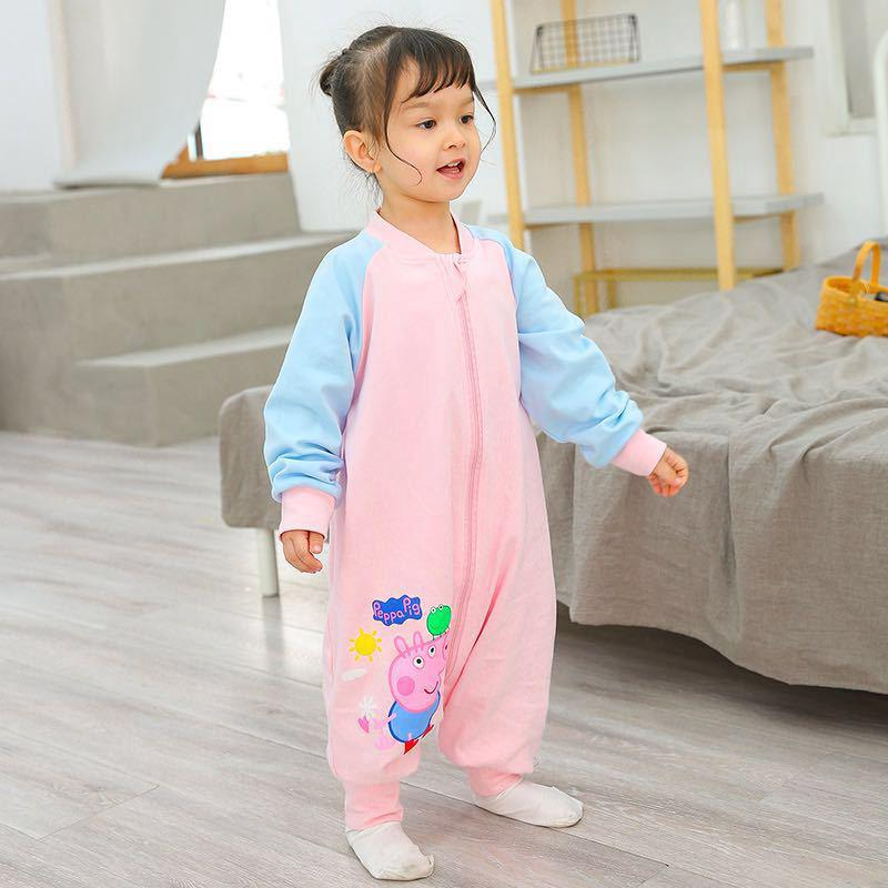pick up e7cbb d2a8c 【HOT】☒☄Baby sleeping bag spring and Autumn cotton autumn/winter thickening  1-3-year-old 2 split leg anti-kick by conj