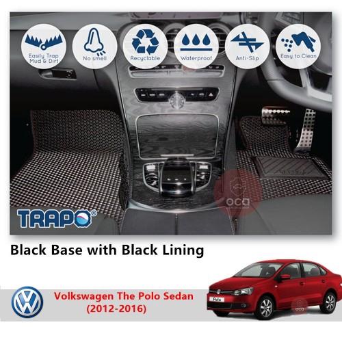 TRAPO Customize Car Floor Mat for Volkswagen The Polo Sedan (2012-2016)