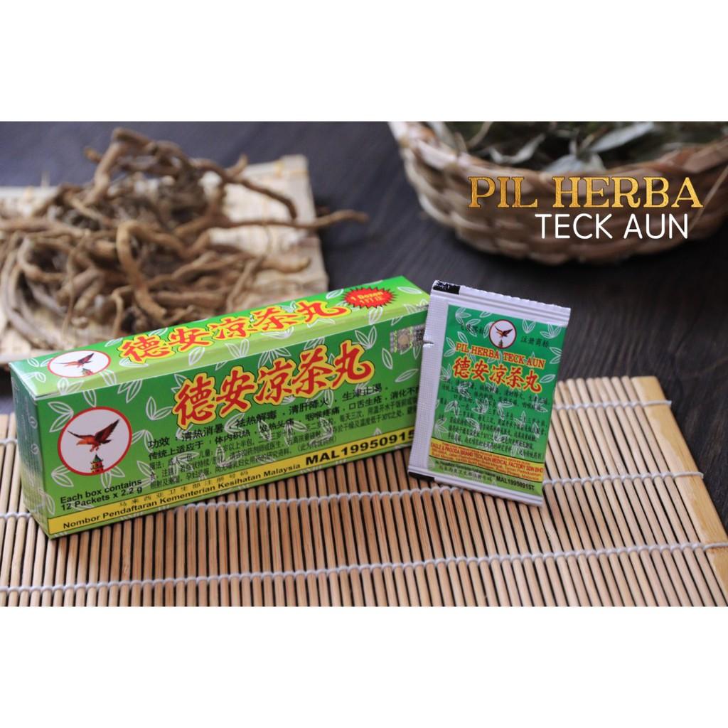 Pil Herba Teck Aun 德安凉茶丸 Teck Aun Herbal Pills