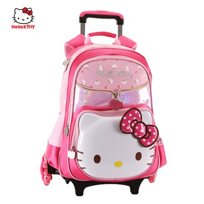 Hello Kitty Premium 3D SHELL (6 WHEELS) - Trolley School Bags (Primary 6-11)   156327ef1110a