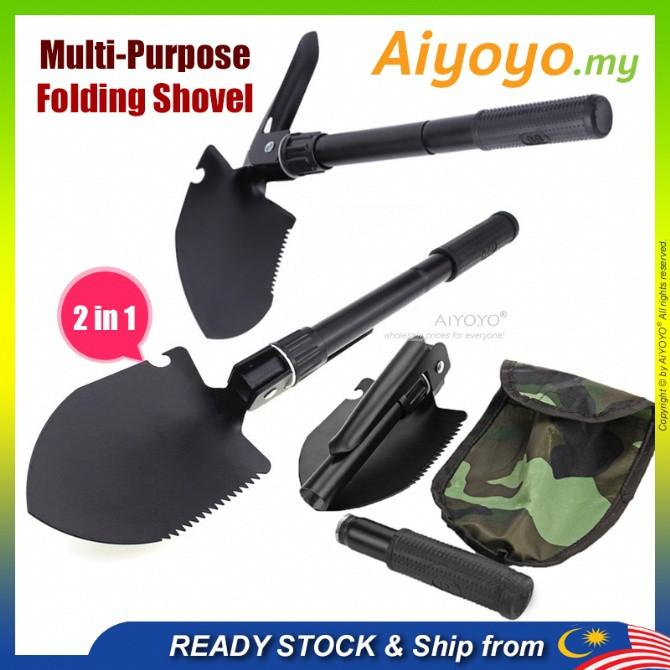 Folding Shovel Garden Shovel Cangkul Lipat Mini Shovel Engineering Shovel Spade Multi-Purpose Military Tactical Wild Sur