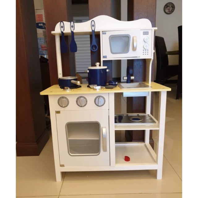 Kl Ready Stock Wooden Kitchen Play Set Playset With Full Set