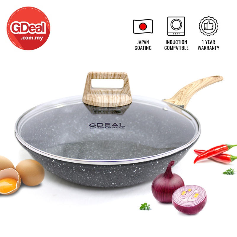 GDeal 28cm Kitchen Cooking Maifan Non-Stick Pan Multifunctional Modern Kitchen Cooking Frying Pan Cookware