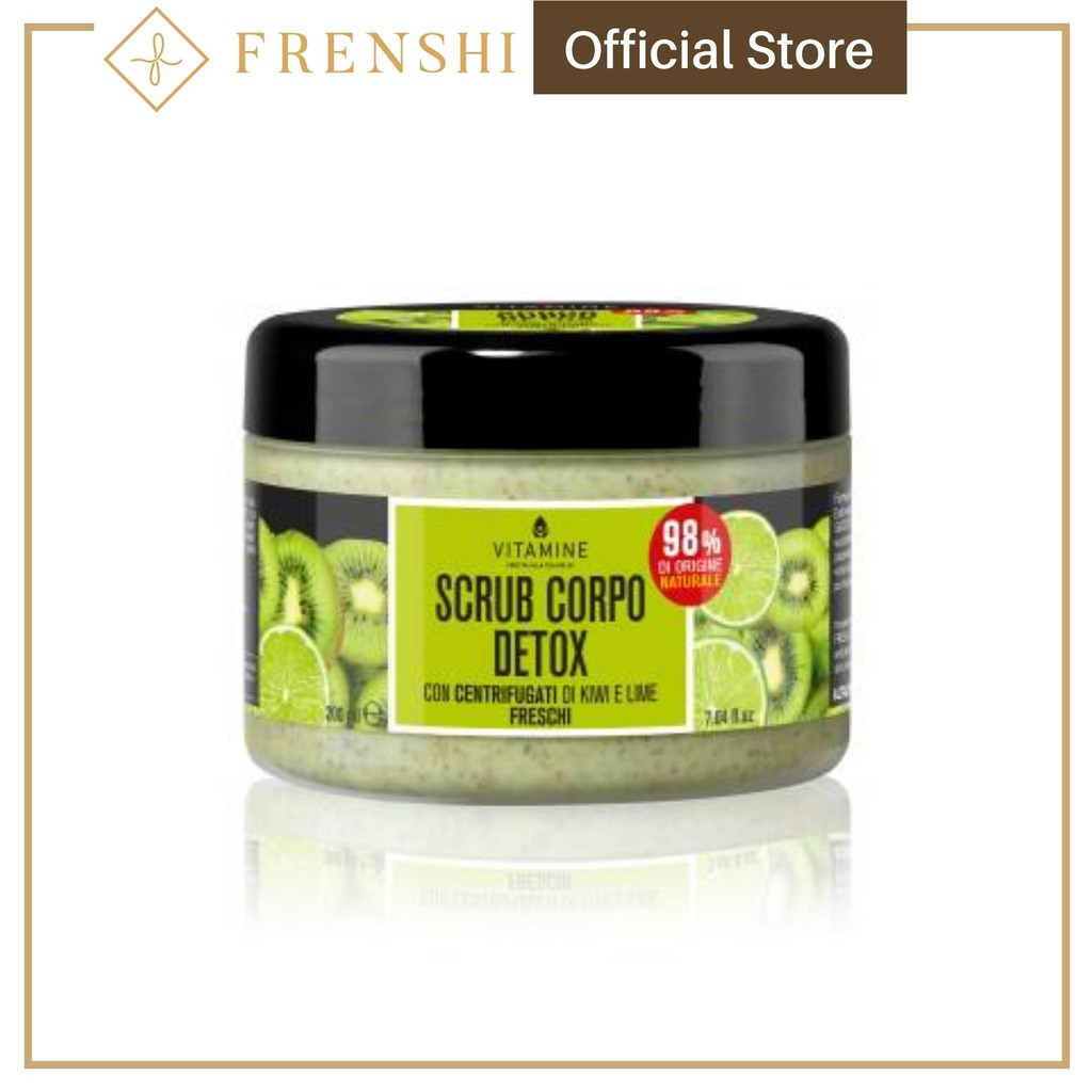 FRENSHI L'ERBORISTICA - DETOX BODY SCRUB KIWI AND LIME with Fresh Centrifuged Fruit Juice 200 ml