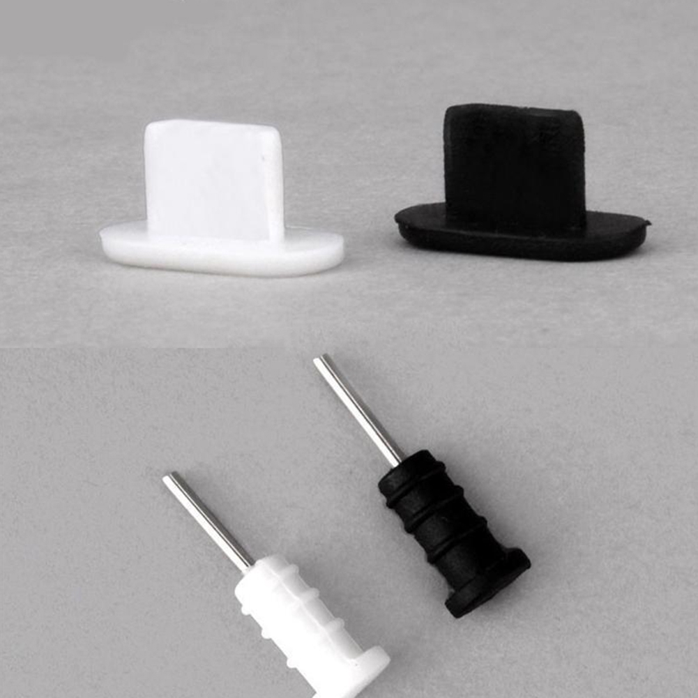 10Set Silicone Anti Dust Cover Cap Charging Cable Port Plug For iPhone 5 5S  6 6s