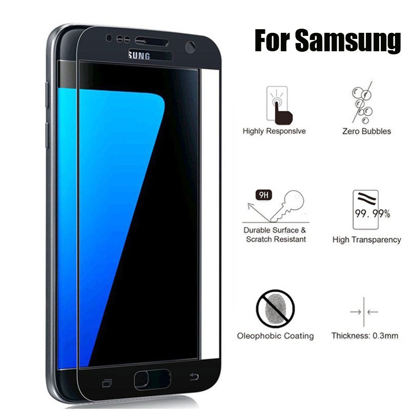 For Samsung Galaxy Note 3 4 5 Full Cover Screen ProtectorGuard Tempered Glass | Shopee Malaysia