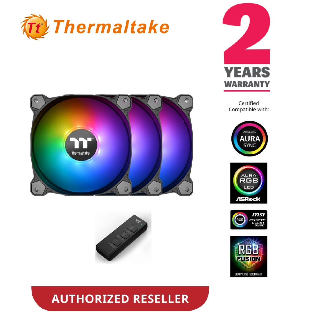 Thermaltake Pure 12 ARGB Sync Radiator Fan TT Premium Edition (3 Fan Pack)  CL-F079-PL12SW-A