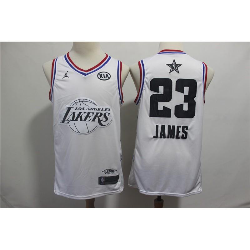 28028f593382 NBA basketball jersey Lakers 23 white 2019 new all-star jersey ready stock  | Shopee Malaysia