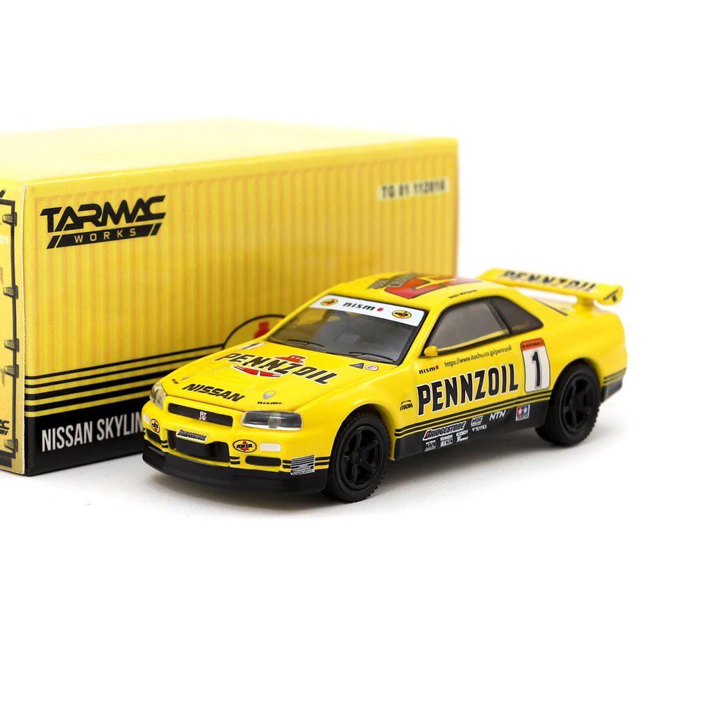 Tarmac Works X Gl 1 64 Nissan Gt R R34 Pennzoil Shopee