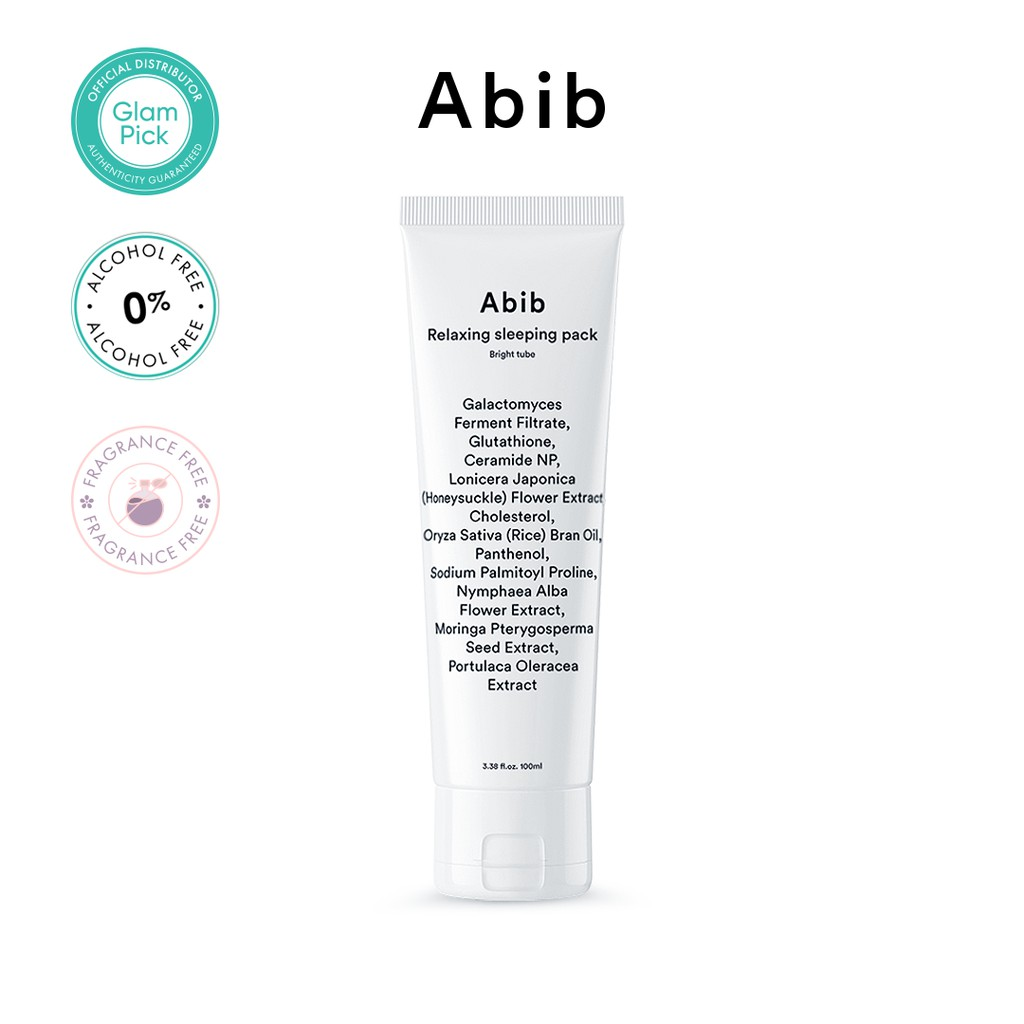ABIB Relaxing Sleeping Pack Bright Tube 100ml