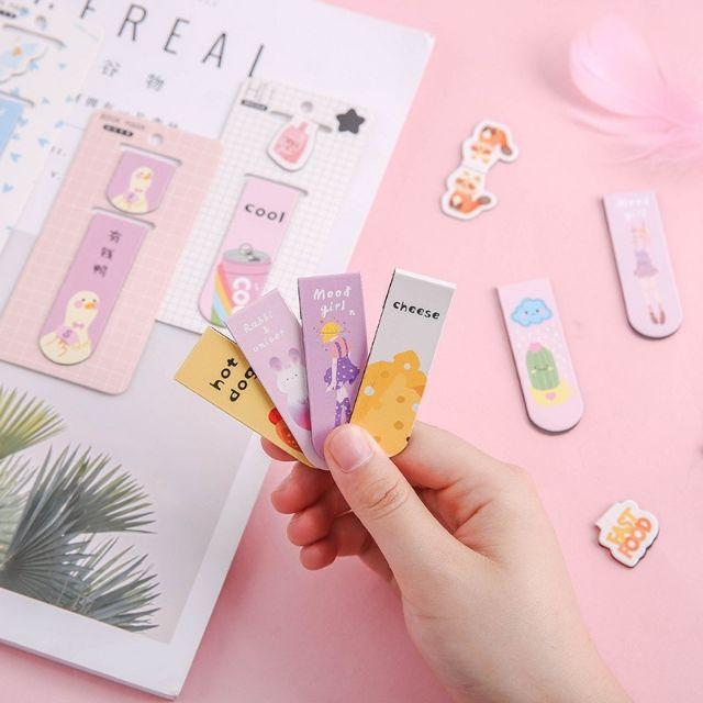 Cute Magnetic Bookmark Fun Student Label Mini Book Flip