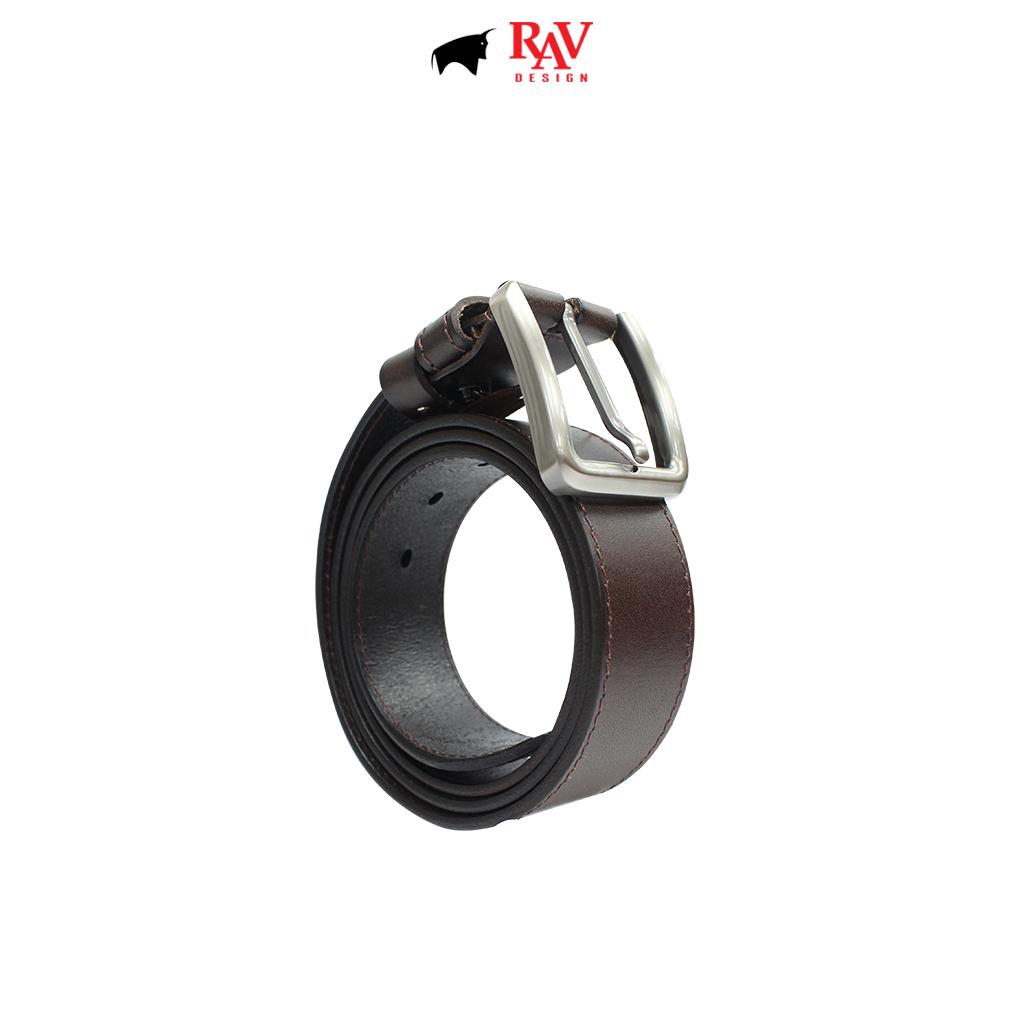 RAV DESIGN Men's 100% Genuine Cow Leather 40MM Pin Buckle Belt Brown |RVB587G1