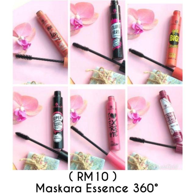 READY STOCK MALAYSIA Maskara essence 360 super volume boost lashes