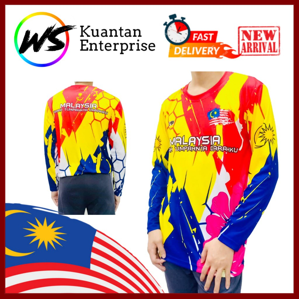 【100% Limited Edition】ATTOP Malaysia Jersey / Full Sublimation Microfiber Round Neck Long Sleeve Jersey (S - 3XL)