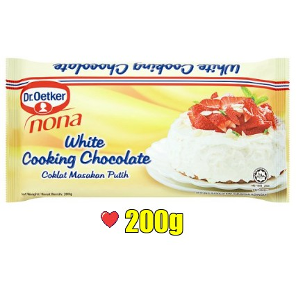 Dr. Oetker Nona White Cooking Chocolate @ 200g ( Free Fragile + Bubblewrap Packing )