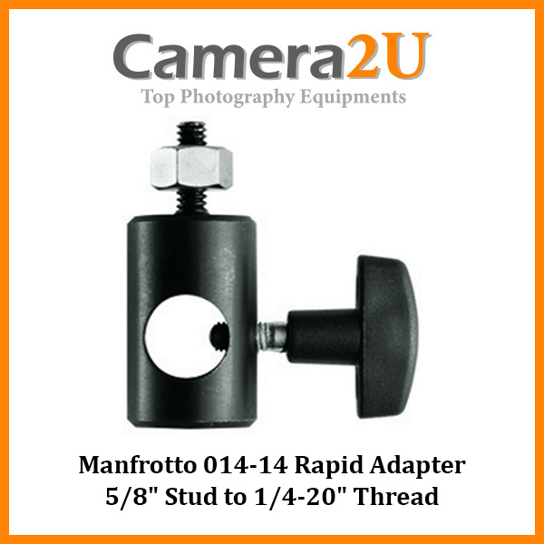 Manfrotto 014- 14 Rapid Adapter converts 5/8-Inch Stud to 17mm Long 1/4-Inch- 20M Thread