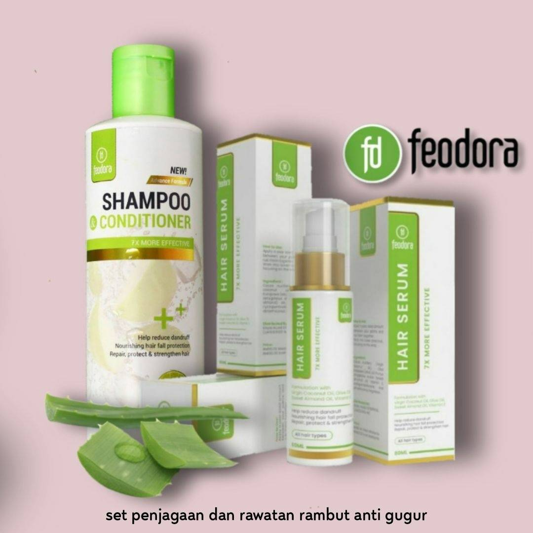 Feodora Shampoo Conditioner Merawat Rambut Gugur Kelemumur Gatal Kulit Kepala Botak Shopee Malaysia