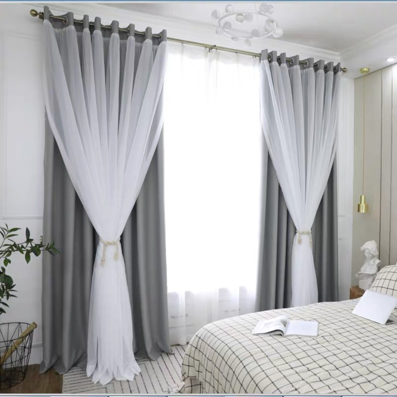 Mrtrees Modern Blackout Double Curtain, Double Curtains For Living Room