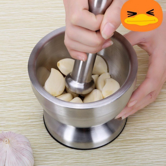 Stainless Steel Mortar Pestle Pugging Pot Garlic Spice Grinder Pharmacy Herbs Bowl Pill Grinder Crusher Kitchen Gadget S