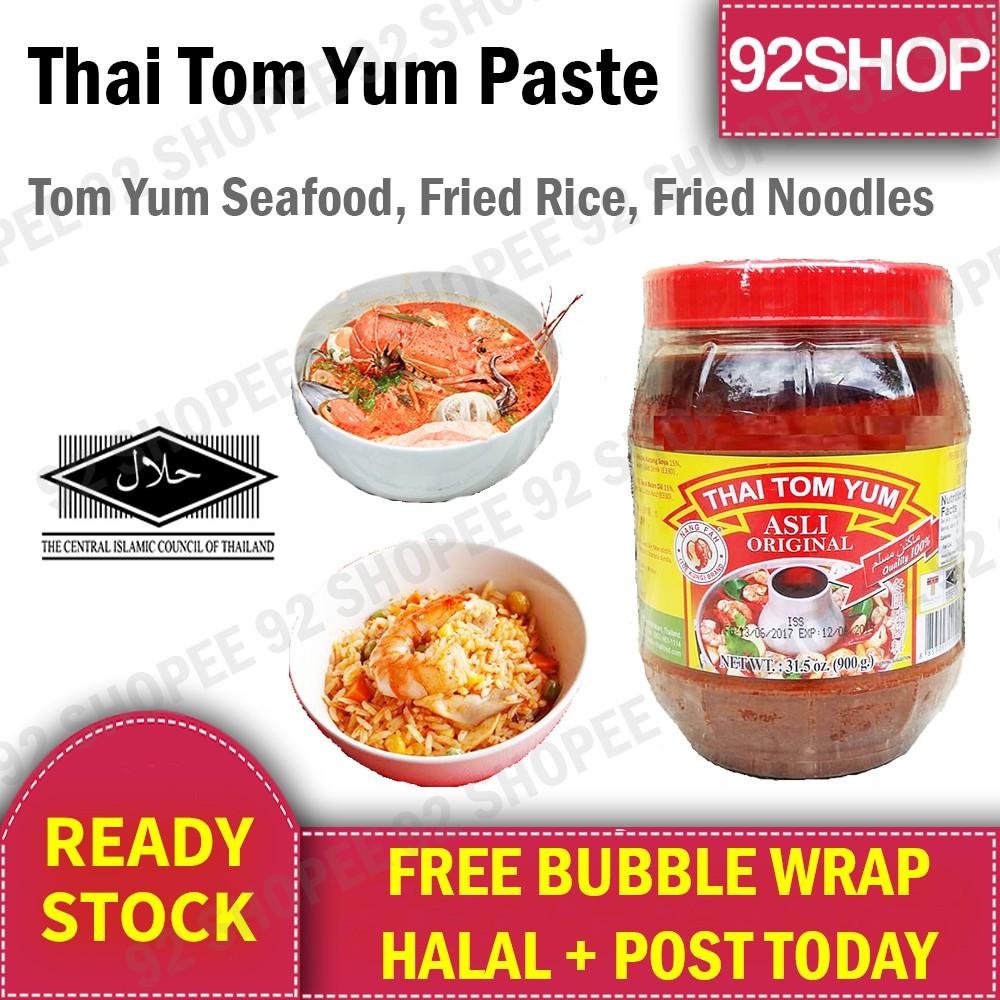Halal Thai Tom Yum Yam Paste Pes Asli Tomyam Nang Fah Fried Rice Noodles  900g