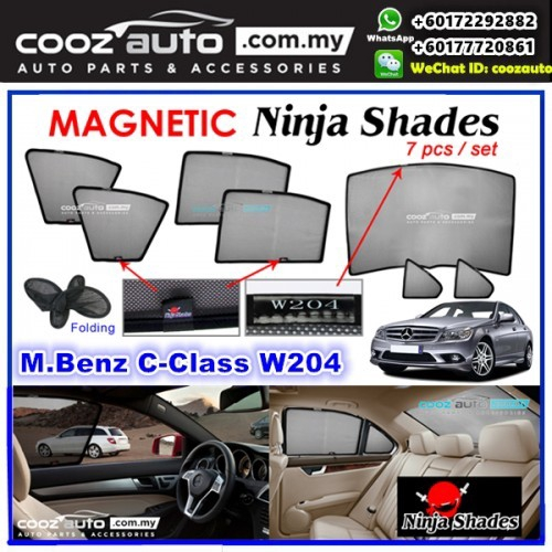 W204 Folding Sun Shade for MERCEDES-BENZ C250 Sedan 2008-2014