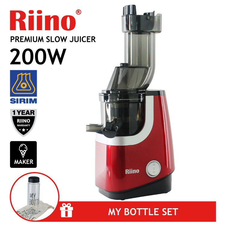 Riino 200w Cold Press Slow Juicer With Xl Feeder Tube