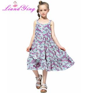 9cff36f4ac272 Baby Girls Dress Summer Children Clothing Kids Flower Chiffon ...