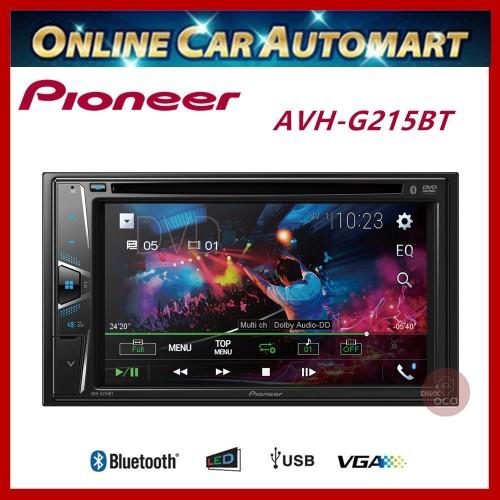 "Pioneer DVD Player 6.2"" Double Din Touchscreen Bluetooth Multimedia AVH-G215BT"