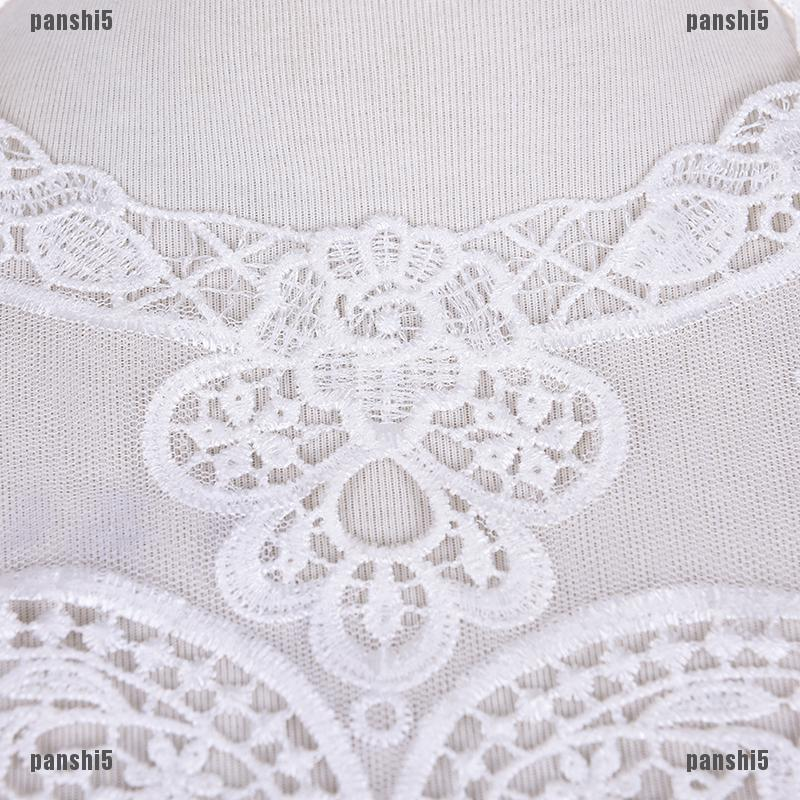 Fabric Lace Charming Flowers Collar Trim White Polyester Sewing Applique FO